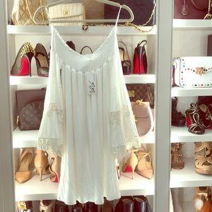 "Vava by Joy Han "" Kaila "" white dress"